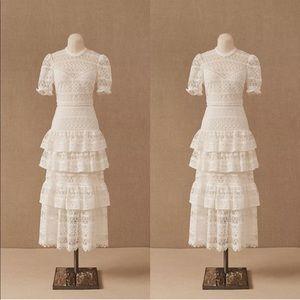 BHLDN ML Monique Lhuillier Villandry Dress 4 NWT